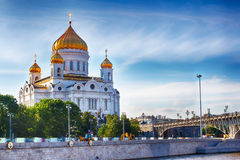The Cathedral Of Christ The Savior. Russia Moscow. Royalty Free Stock Photography