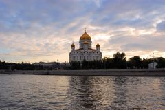 Cathedral of Christ the Savior, Russia Royalty Free Stock Photography
