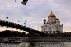 Cathedral of Christ the Savior, Russia Stock Photography