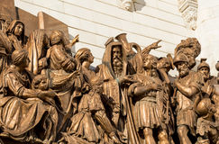 Cathedral of Christ the Savior sculpture Royalty Free Stock Photo