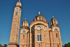 Serbian Orthodox Church in Banja Luka, Bosnia and Herzegovina. The Cathedral of Christ the Savior, a Serbian Orthodox Church in Banja Luka, Bosnia and Royalty Free Stock Photo