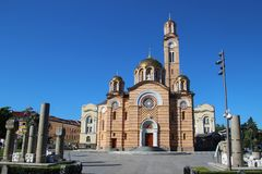 Serbian Orthodox Church in Banja Luka, Bosnia and Herzegovina. The Cathedral of Christ the Savior, a Serbian Orthodox Church in Banja Luka, Bosnia and Stock Photos