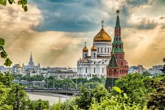 The Cathedral of Christ the Savior. stock photo