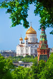 Cathedral of Christ the Savior view from Kremlin Royalty Free Stock Image