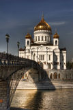 Cathedral of Christ the Saviour. The Cathedral of Christ the Saviour on the bank of the Moskva River. Moscow, Russia royalty free stock images