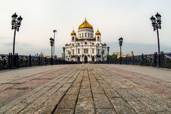Cathedral of Christ the Saviour. Royalty Free Stock Photo