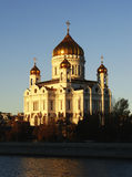 Cathedral of Christ the Saviour in early morning, Moscow, Russia Royalty Free Stock Photo