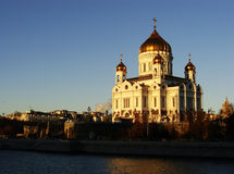 Cathedral of Christ the Saviour in early morning, Moscow, Russia Stock Images