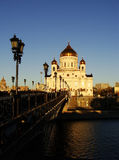 Cathedral of Christ the Saviour in early morning, Moscow, Russia Royalty Free Stock Photos
