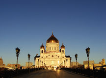 Cathedral of Christ the Saviour in early morning, Moscow, Russia Stock Image
