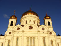 Cathedral of Christ the Saviour in early morning, Moscow, Russia Royalty Free Stock Photography