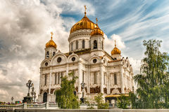Cathedral of Christ the Saviour, iconic landmark in Moscow, Russ Stock Photos