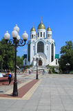 Cathedral of Christ the Saviour in Kaliningrad. KALININGRAD, RUSSIA — JULY 7, 2014: Cathedral of Christ the Saviour in Kaliningrad. Summer, July Royalty Free Stock Images