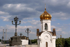 The Cathedral of Christ the Saviour in Moscow Stock Photos