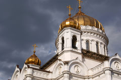 The Cathedral of Christ the Saviour in Moscow Royalty Free Stock Photography