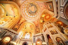 Cathedral of Christ the Saviour in Moscow. Stock Photos