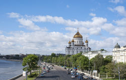 Cathedral of Christ the Saviour in Moscow Royalty Free Stock Photos