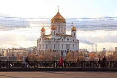 Cathedral of Christ the Saviour in Moscow. The Cathedral of Christ the Saviour  is a Church in Moscow, Russia, on the northern bank of the Moskva River, a few Royalty Free Stock Photography