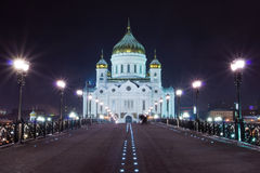 Cathedral of Christ the Saviour, Moscow Stock Images
