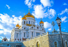 Cathedral of Christ the Saviour. Moscow Kremlin Red Square Stock Photo