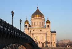 Cathedral of Christ the Saviour, Moscow, Russia Stock Image