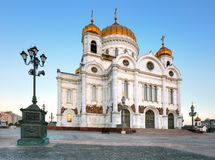 Cathedral of Christ the Saviour in Moscow, Russia stock photography