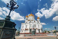 The Cathedral of Christ the Saviour in Moscow Stock Image