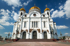 The Cathedral of Christ the Saviour in Moscow Royalty Free Stock Photo