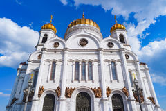 Cathedral of Christ the Saviour in Moscow Stock Images