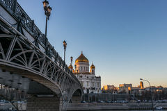 Cathedral of Christ the Saviour in Moscow. Russia Royalty Free Stock Photography