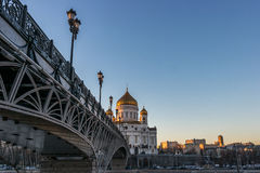 Cathedral of Christ the Saviour in Moscow. Russia Royalty Free Stock Image