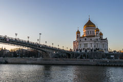 Cathedral of Christ the Saviour in Moscow. Russia Stock Photo