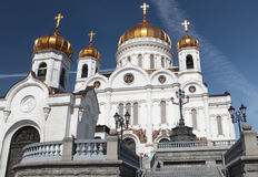 Cathedral of Christ the Saviour in Moscow, Russia Stock Image