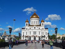 The Cathedral Of Christ The Saviour. In Moscow in Russia. August, 2015 royalty free stock images
