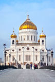 Cathedral of Christ the Saviour in Moscow, Russia Royalty Free Stock Photography