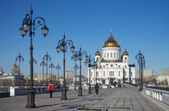 The Cathedral of Christ the Saviour in Moscow, Russia Royalty Free Stock Photo