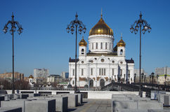 The Cathedral of Christ the Saviour in Moscow, Russia Stock Images