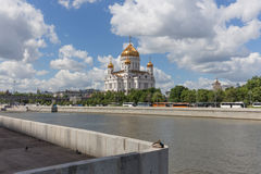 Cathedral of Christ the Saviour in Moscow, Russia Stock Images