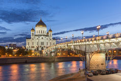 Cathedral of Christ the Saviour in Moscow, Russia Royalty Free Stock Images