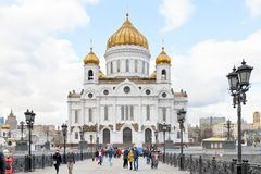 Cathedral of Christ the Saviour, Moscow Royalty Free Stock Images