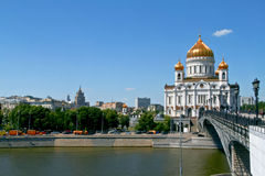 Cathedral of Christ the Saviour in Moscow, Russia. Royalty Free Stock Image