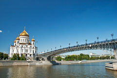 Cathedral of Christ the Saviour in Moscow, Russia. Stock Images