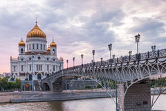 Cathedral of Christ the Saviour, Moscow, Russia Royalty Free Stock Photos
