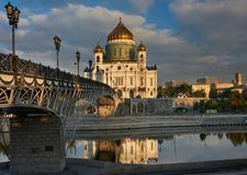 Cathedral of Christ the Saviour near Moskva river, Moscow. Russi Stock Photography