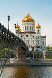 Cathedral of Christ the Saviour near Moskva river, Moscow. Royalty Free Stock Photography