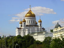 Cathedral of Christ the Saviour. Near Moskva river. Moscow, Russia Stock Image