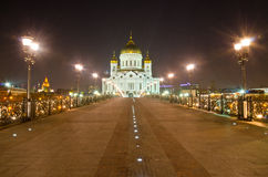 Cathedral of Christ the Saviour at night Royalty Free Stock Images