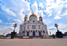 Cathedral of Christ the Saviour, Russia. Cathedral of Christ the Saviour in Moscow, Russia. The tallest Orthodox Christian church in the world royalty free stock photos