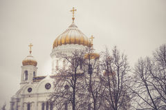 The Cathedral of Christ the Saviour in winter Stock Photo