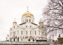 The Cathedral of Christ the Saviour in winter Stock Photos